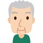 訪問(70歳男性)