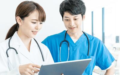 医療機関での操作研修