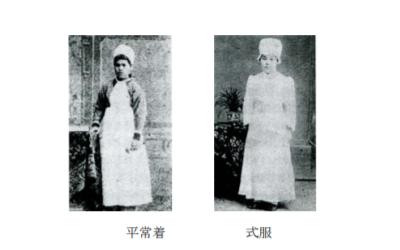 日本で最初の看護服